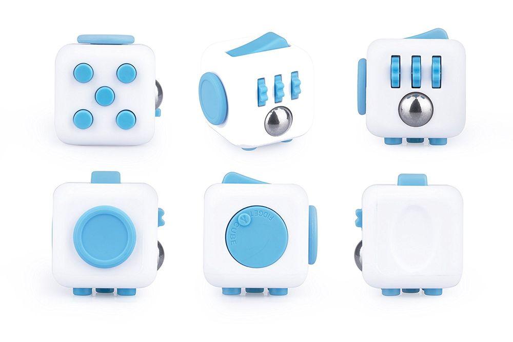 """Fidget Cube """"Aqua"""" [weiß/ blau]"""