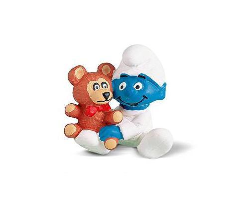 Die Schlümpfe - Baby mit Teddy