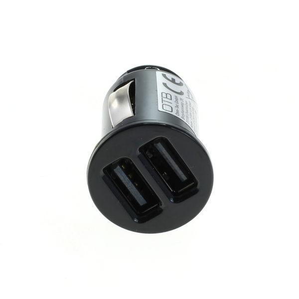 OTB KFZ-Ladeadapter USB - Dual USB - 4,8A mit Auto-ID - schwarz - TINY – Bild 2