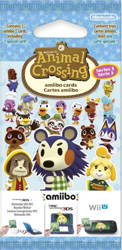 amiibo Karten 3 Stück Animal Crossing Vol. 3