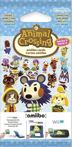 amiibo Karten 3 Stück Animal Crossing Vol. 3