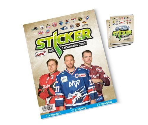 2017-18 DEL Sticker Album + 2 Packs