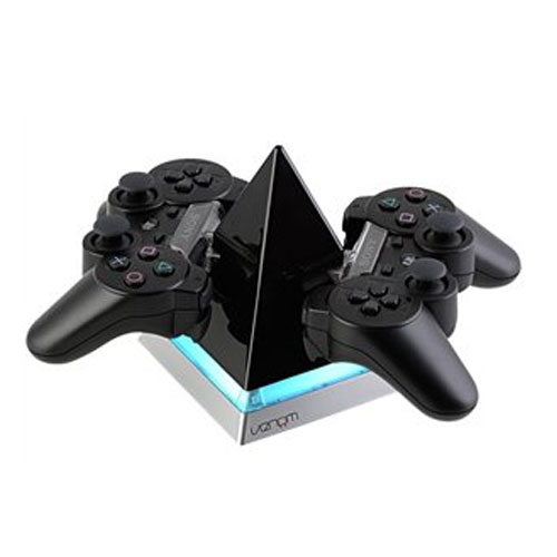 PS3 Controller-Ladestation f.2Contr. VENOM Pyramid Charger