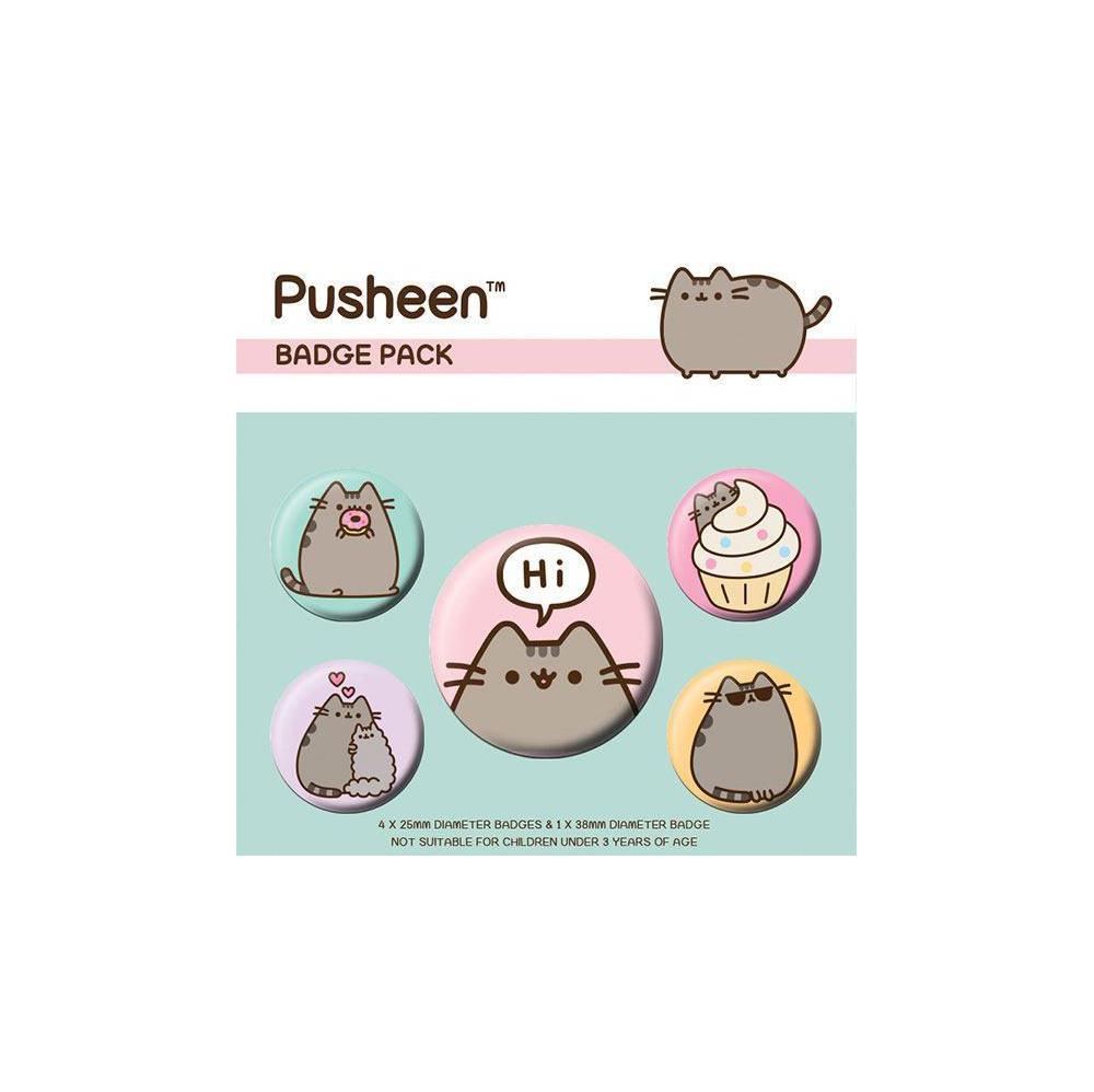 Pusheen Ansteck-Buttons 5er-Pack Pusheen Says Hi