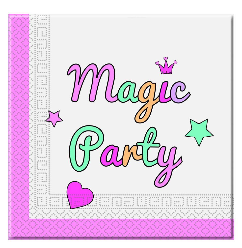 Magic Party Regenbogen Servietten 20 Stück