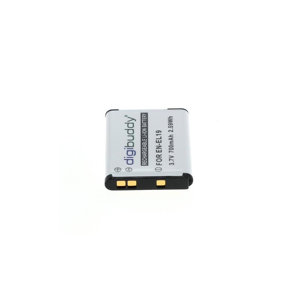 digibuddy Akku kompatibel zu Nikon EN-EL19 / Sony NP-BJ1 Li-Ion – Bild 2