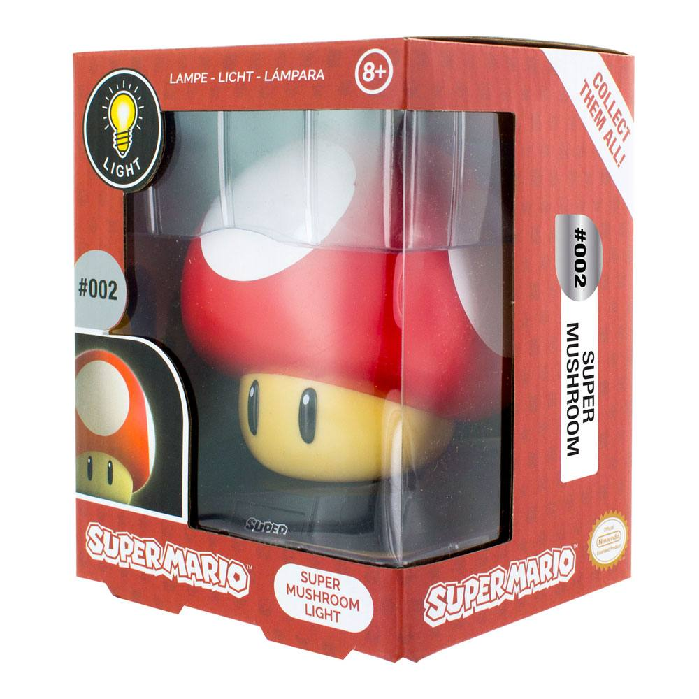 Super Mario 3D Lampe Power-Up Pilz 10cm