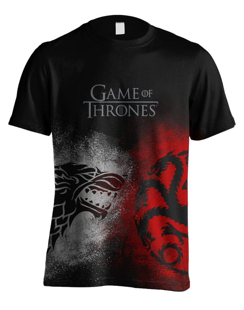 Game of Thrones Herren T-Shirt Stark & Targaryen XL