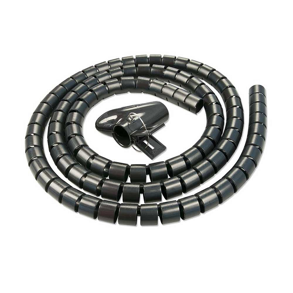 Lindy 40575 Kabelspirale, 2m Durchmesser 25mm, schwarz, mit Einziehhilfe – Bild 1