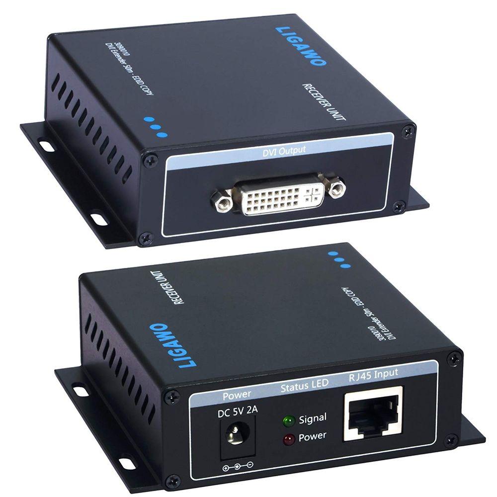 Ligawo 3090010 DVI Extender Verstärker Verlängerung über Netzwerkkabel bis 50 m – Bild 2