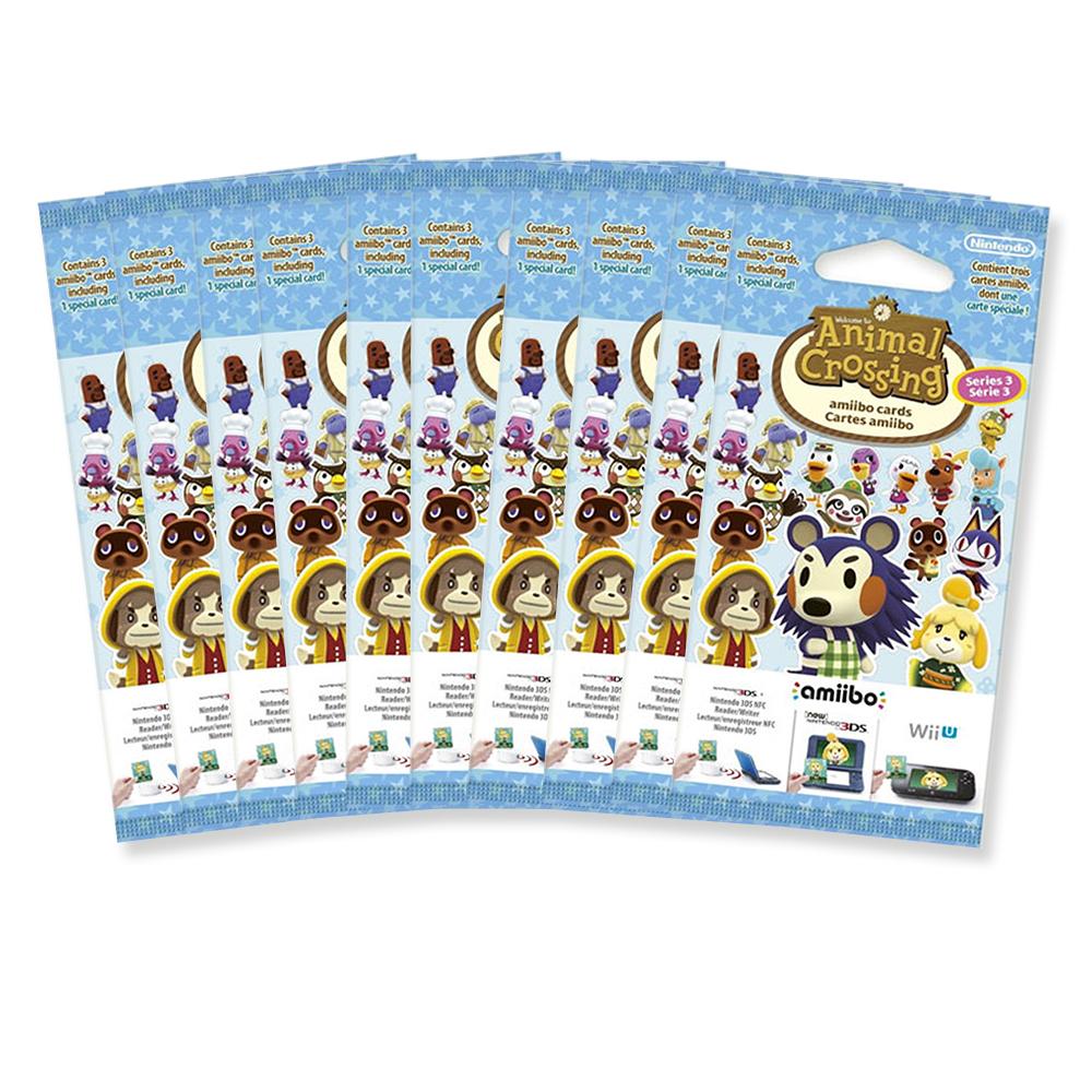 10x Amiibo Karten 3 Stück Animal Crossing Vol. 3