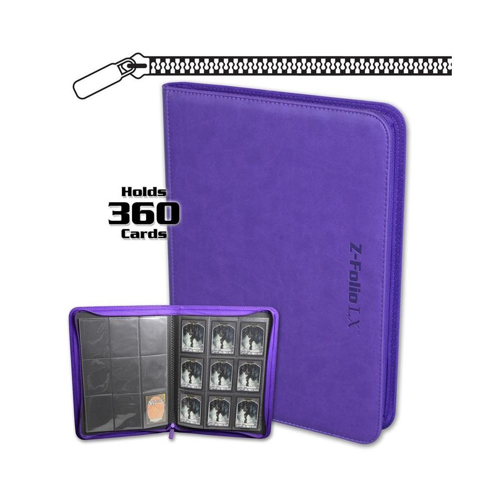 BCW Z-Folio 9-Pocket LX Portfolio Purple
