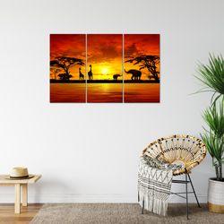 Afrika Sonnenuntergang BILD KUNSTDRUCK  - AUF VLIES LEINWAND - XXL DEKORATION  000231P  Bild 6