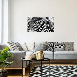 Afrika Zebra BILD KUNSTDRUCK  - AUF VLIES LEINWAND - XXL DEKORATION  00141P  Bild 7