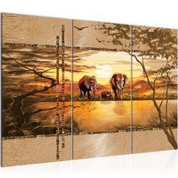Afrika Elefant BILD KUNSTDRUCK  - AUF VLIES LEINWAND - XXL DEKORATION  001731P  Bild 2
