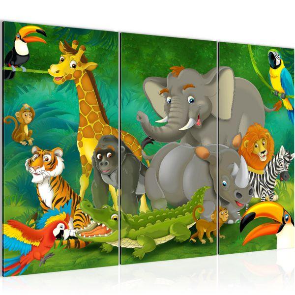 Afrika Tiere BILD KUNSTDRUCK  - AUF VLIES LEINWAND - XXL DEKORATION  001831P