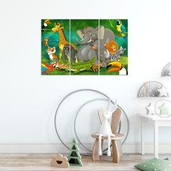 Afrika Tiere BILD KUNSTDRUCK  - AUF VLIES LEINWAND - XXL DEKORATION  001831P  Bild 6