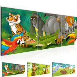 Afrika Tiere BILD KUNSTDRUCK  - AUF VLIES LEINWAND - XXL DEKORATION  001834P  Bild 1