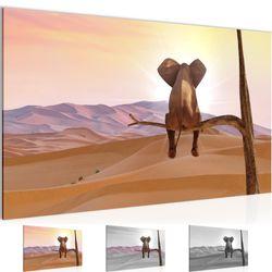 Afrika Elefant BILD KUNSTDRUCK  - AUF VLIES LEINWAND - XXL DEKORATION  002014P  Bild 1