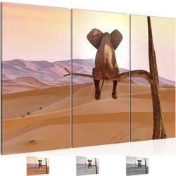 Afrika Elefant BILD KUNSTDRUCK  - AUF VLIES LEINWAND - XXL DEKORATION  002031P  Bild 1