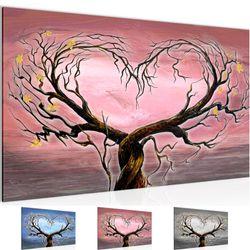 Herbst Baum Herz BILD KUNSTDRUCK  - AUF VLIES LEINWAND - XXL DEKORATION  00231P  Bild 1