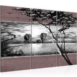 Afrika Elefant BILD KUNSTDRUCK  - AUF VLIES LEINWAND - XXL DEKORATION  002531P  Bild 2