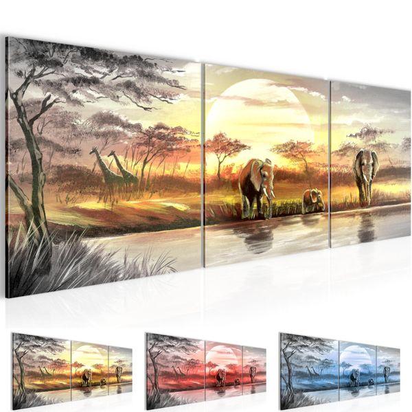 Afrika Elefant BILD KUNSTDRUCK  - AUF VLIES LEINWAND - XXL DEKORATION  000734P