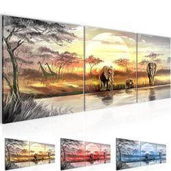 Afrika Elefant BILD KUNSTDRUCK  - AUF VLIES LEINWAND - XXL DEKORATION  000734P  Bild 1