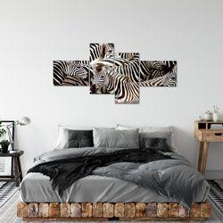 Afrika Zebra BILD KUNSTDRUCK  - AUF VLIES LEINWAND - XXL DEKORATION  00084P  Bild 3