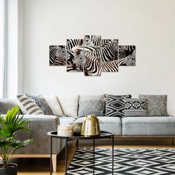 Afrika Zebra BILD KUNSTDRUCK  - AUF VLIES LEINWAND - XXL DEKORATION  00085P  Bild 7
