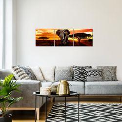 Afrika Elefant BILD KUNSTDRUCK  - AUF VLIES LEINWAND - XXL DEKORATION  001234P  Bild 7