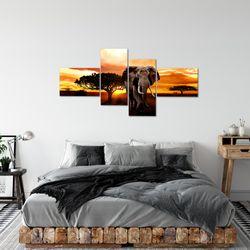 Afrika Elefant BILD KUNSTDRUCK  - AUF VLIES LEINWAND - XXL DEKORATION  00124P  Bild 3
