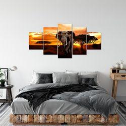 Afrika Elefant BILD KUNSTDRUCK  - AUF VLIES LEINWAND - XXL DEKORATION  00125P  Bild 4