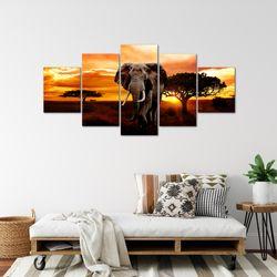Afrika Elefant BILD KUNSTDRUCK  - AUF VLIES LEINWAND - XXL DEKORATION  00125P  Bild 5