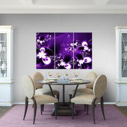 Abstrakt Blumen BILD KUNSTDRUCK  - AUF VLIES LEINWAND - XXL DEKORATION  100531P  Bild 6