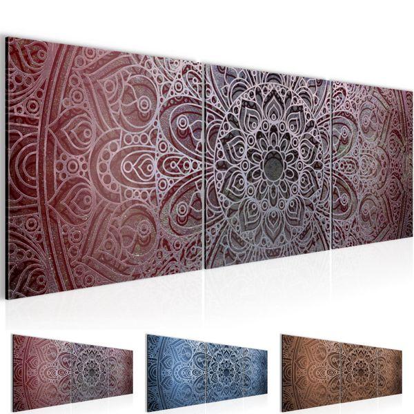 Mandala Abstrakt BILD KUNSTDRUCK  - AUF VLIES LEINWAND - XXL DEKORATION  101234P