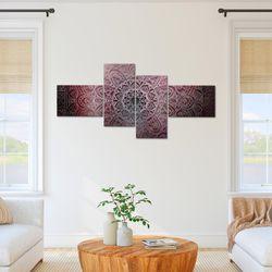 Mandala Abstrakt BILD KUNSTDRUCK  - AUF VLIES LEINWAND - XXL DEKORATION  10124P  Bild 6