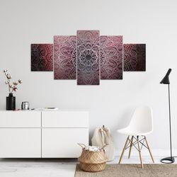 Mandala Abstrakt BILD KUNSTDRUCK  - AUF VLIES LEINWAND - XXL DEKORATION  10125P  Bild 4