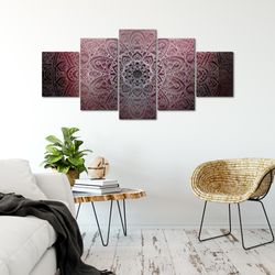 Mandala Abstrakt BILD KUNSTDRUCK  - AUF VLIES LEINWAND - XXL DEKORATION  10125P  Bild 5