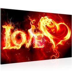 Abstrakt Feuer Love BILD KUNSTDRUCK  - AUF VLIES LEINWAND - XXL DEKORATION  101614P  Bild 2