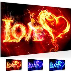 Abstrakt Feuer Love BILD KUNSTDRUCK  - AUF VLIES LEINWAND - XXL DEKORATION  101614P  Bild 1