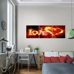 Abstrakt Feuer Love BILD KUNSTDRUCK  - AUF VLIES LEINWAND - XXL DEKORATION  101634P  Bild 7