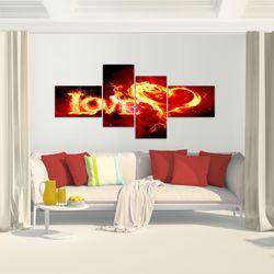Abstrakt Feuer Love BILD KUNSTDRUCK  - AUF VLIES LEINWAND - XXL DEKORATION  10164P  Bild 6