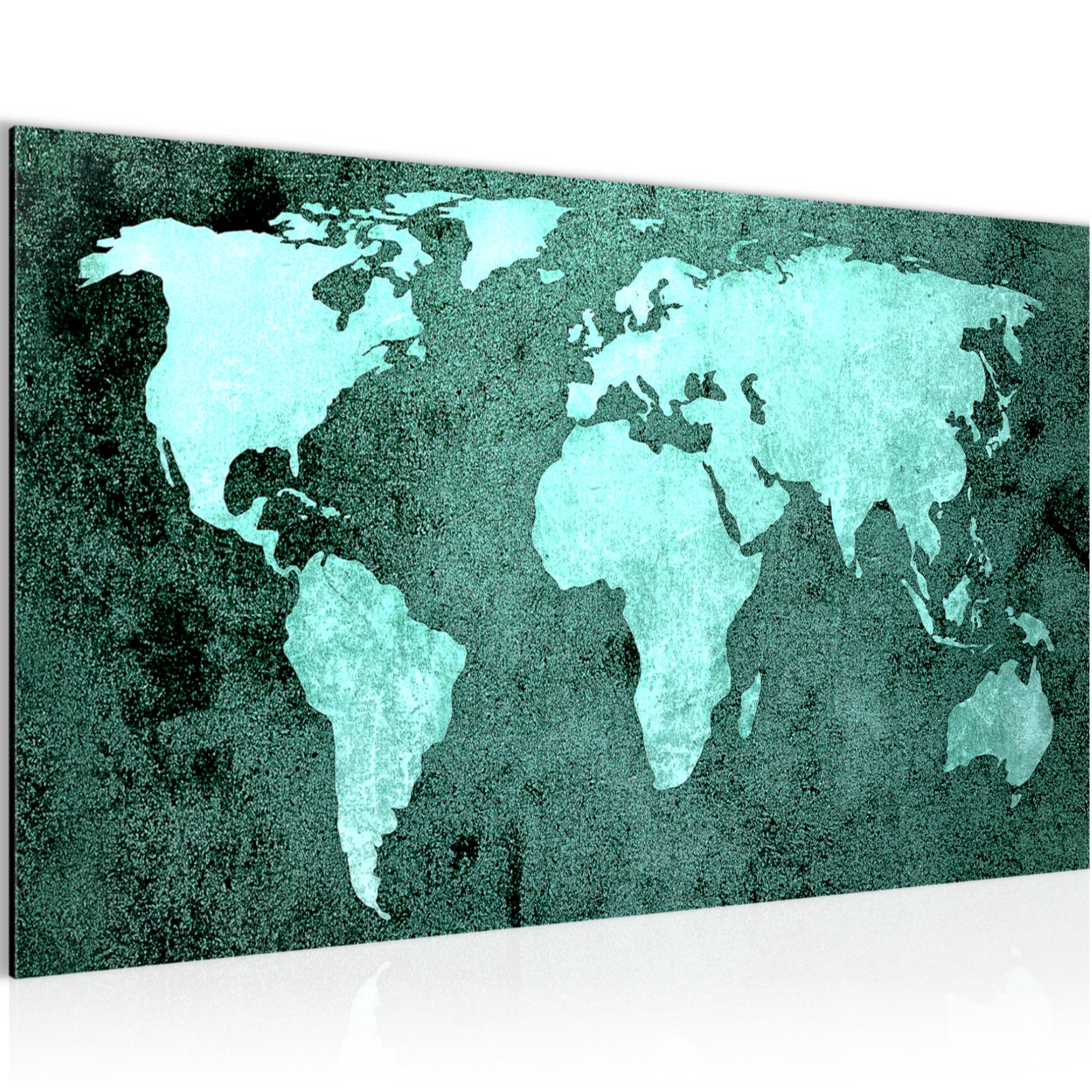 weltkarte world map bild kunstdruck auf vlies leinwand xxl dekoration 101714p. Black Bedroom Furniture Sets. Home Design Ideas