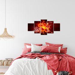 Feuer Blume BILD KUNSTDRUCK  - AUF VLIES LEINWAND - XXL DEKORATION  10425P  Bild 7