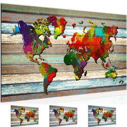 Weltkarte World Map BILD KUNSTDRUCK  - AUF VLIES LEINWAND - XXL DEKORATION  105414P  Bild 1