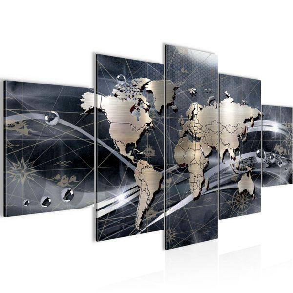 Weltkarte World map BILD KUNSTDRUCK  - AUF VLIES LEINWAND - XXL DEKORATION  10685P