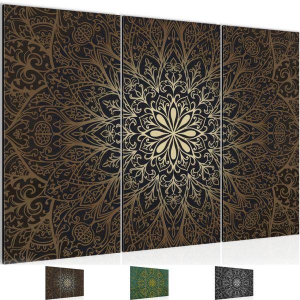 Mandala Abstrakt BILD KUNSTDRUCK  - AUF VLIES LEINWAND - XXL DEKORATION  107431P