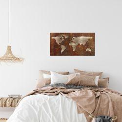 Weltkarte World Map BILD KUNSTDRUCK  - AUF VLIES LEINWAND - XXL DEKORATION  109014P  Bild 7