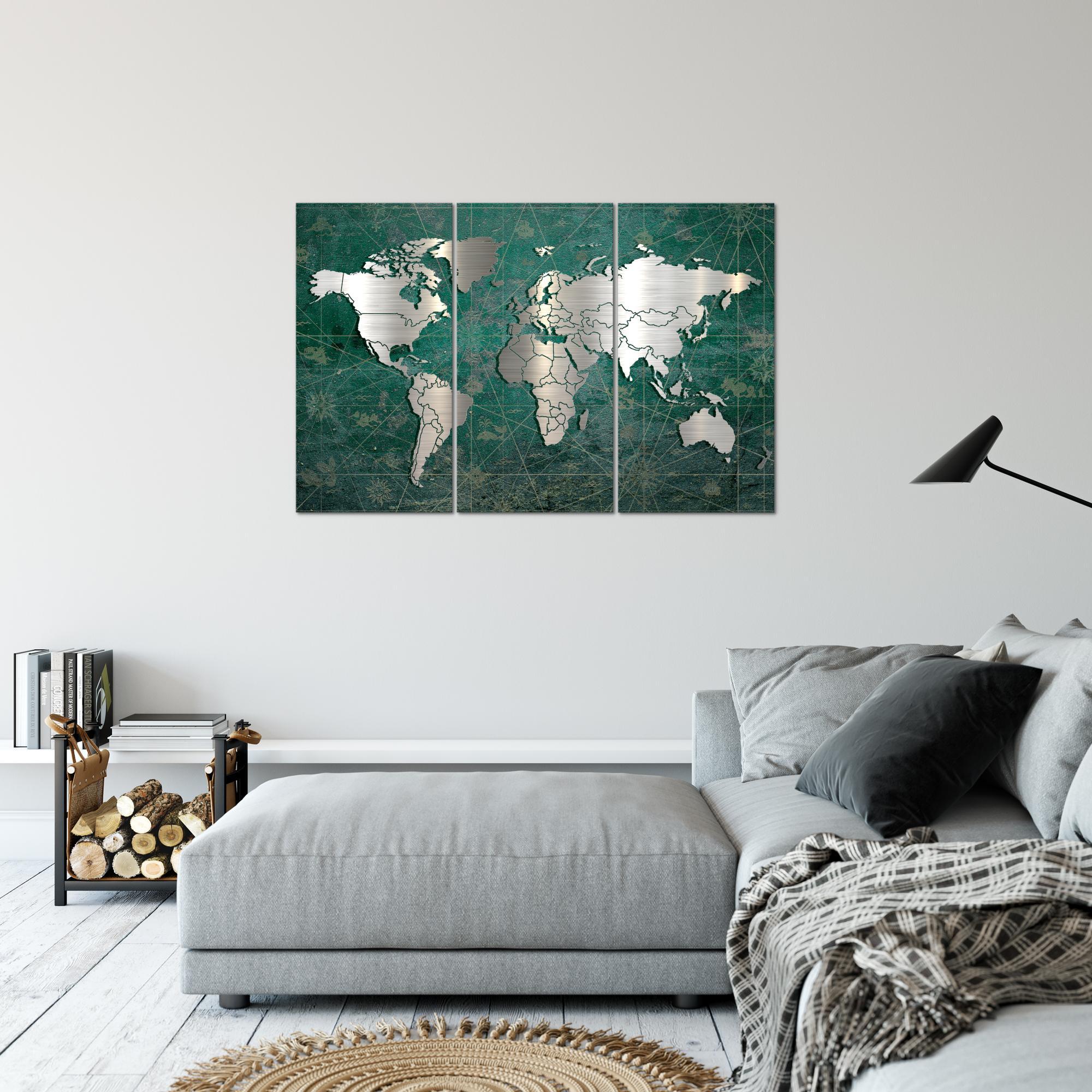 weltkarte world map bild kunstdruck auf vlies leinwand xxl dekoration 109031p. Black Bedroom Furniture Sets. Home Design Ideas